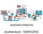 modern flat thin line design... | Shutterstock .eps vector #538552552