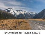 mount cook national park view   ... | Shutterstock . vector #538552678