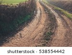 country road with mud in a... | Shutterstock . vector #538554442