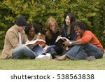 small group of friends studying ... | Shutterstock . vector #538563838