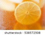 glasses of iced tea with lemon...   Shutterstock . vector #538572508