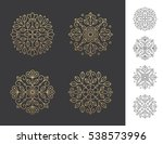 set of four geometric round... | Shutterstock .eps vector #538573996