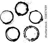 vector ink frames set | Shutterstock .eps vector #53857459