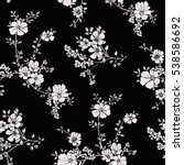 seamless floral pattern in... | Shutterstock .eps vector #538586692
