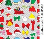 christmas monochrome seamless... | Shutterstock .eps vector #538586836