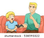 illustration of a father and... | Shutterstock .eps vector #538593322