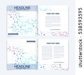 templates for square brochure.... | Shutterstock .eps vector #538593595