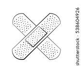 medical plaster. health care.... | Shutterstock .eps vector #538604926