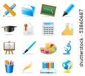 science and art icons   vector... | Shutterstock .eps vector #53860687