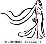bride abstract caligraphy   Shutterstock .eps vector #538613746