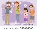 brawl in the family.the... | Shutterstock .eps vector #538614565