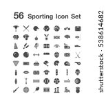 56 sporting icon set  | Shutterstock .eps vector #538614682