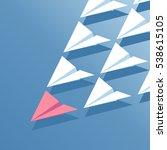business concept leadership.... | Shutterstock .eps vector #538615105