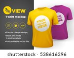 yellow and purple men's t shirt ...