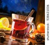 mulled wine for christmas eve... | Shutterstock . vector #538621036