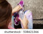 stylish young female athlete in ... | Shutterstock . vector #538621366