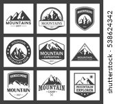 mountain travel  outdoor... | Shutterstock .eps vector #538624342