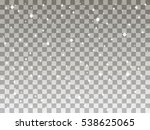falling snow on a transparent... | Shutterstock .eps vector #538625065