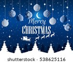 merry christmas. winter... | Shutterstock .eps vector #538625116