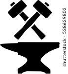 Blacksmith Equipment. Hammer...