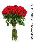 Stock photo colorful flower bouquet from red roses isolated on white background closeup 538632316