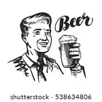 beer bar or pub. happy smiling... | Shutterstock .eps vector #538634806