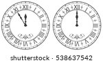 clock with roman numerals. new... | Shutterstock .eps vector #538637542