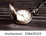 deadline concept pocket watch...   Shutterstock . vector #538639225