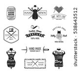 set of vintage tailor labels ... | Shutterstock .eps vector #538643512