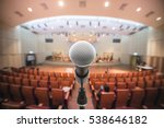microphone in music hall music... | Shutterstock . vector #538646182