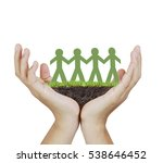 paper unity the people design  | Shutterstock . vector #538646452