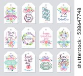 valentine s day gift tags... | Shutterstock .eps vector #538647748