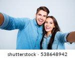 portrait of attractive happy... | Shutterstock . vector #538648942