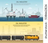vector oil rig platform...   Shutterstock .eps vector #538662826