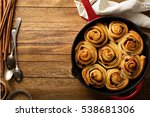cinnamon buns with chocolate...   Shutterstock . vector #538681306