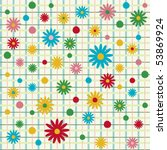 seamless pattern with flowers ... | Shutterstock .eps vector #53869924