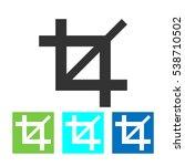 crop vector icon. | Shutterstock .eps vector #538710502