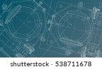 mechanical engineering drawing. ... | Shutterstock .eps vector #538711678