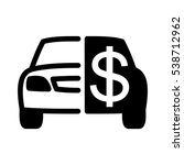 car sale vector icon | Shutterstock .eps vector #538712962