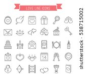 30 love line icons  can be used ... | Shutterstock .eps vector #538715002