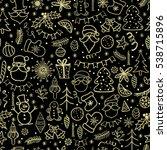 merry christmas. hand drawn... | Shutterstock . vector #538715896