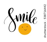 Smile. Inspirational Quote...