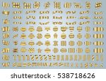 label ribbon banner gold vector ...   Shutterstock .eps vector #538718626