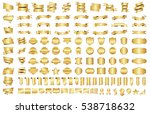 label ribbon banner gold vector ... | Shutterstock .eps vector #538718632