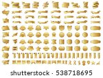 label ribbon banner gold vector ... | Shutterstock .eps vector #538718695