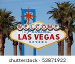 welcome to las vegas sign with... | Shutterstock . vector #53871922