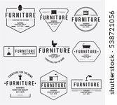 furniture emblem vintage vector ... | Shutterstock .eps vector #538721056