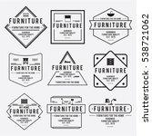 furniture emblem vintage vector ... | Shutterstock .eps vector #538721062