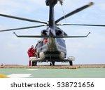 helicopter parking landing on... | Shutterstock . vector #538721656