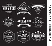 vintage hipster label vector